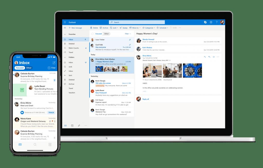 Microsoft outlook e-mailen op al je apparaten