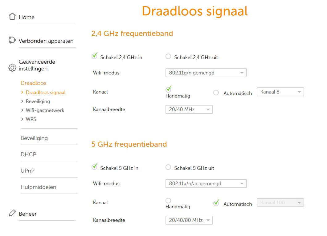 Ziggo connect box wifi signaal aanpassen