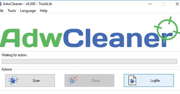 adwcleaner computervirus verwijderen