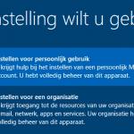 Windows 10 instellen voor persoonlijk gebruik